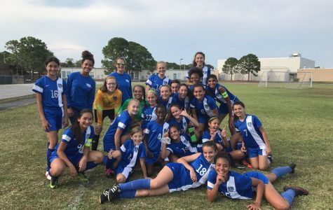 Girls soccer team wins Northwest Division playoff game against long time rival Jupiter Middle