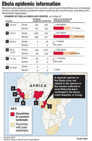 Ebola virus strikes many outside of US