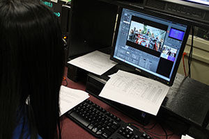 Video announcements provide information, news for whole school.