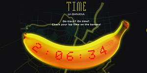 Dole's new LED wearable banana lets runners see lap time and heart rate