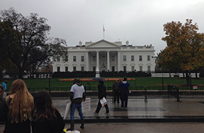Students put knowledge to real world events in Washington