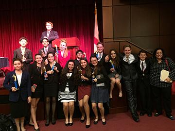 Speech and debate students sweeps competition at recent tournament