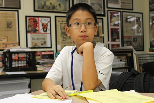 Sixth grader communications student Miles Wang ranks first place in Equations portion of the Academic Games tournament.  Wang will head to Nationals in Atlanta.