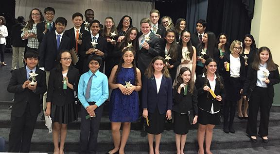 Bak's Speech and Debate displays their latest round of awards at the latest competition held at the Weiss School on March 3, 2016.