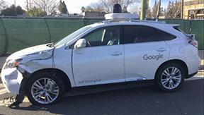Google self- driving car crashes into bus