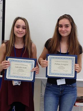 Students win literature contest