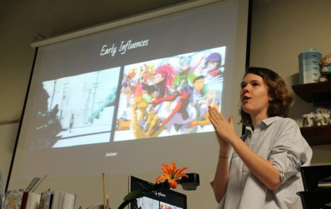 Student to mentor: former visual major Rebecca Mock visits her alma mater