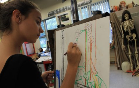Visual majors express emotion through art
