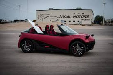 The idea for the LM3D was handpicked from a competition held by Local Motors. The community was able to submit ideas which were then judged by a panel including Jay Leno.