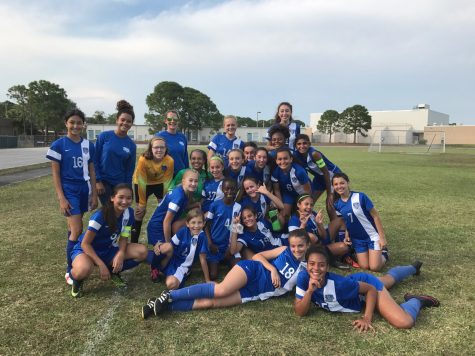 Girls soccer defeats long time rival Jupiter Middle with a score of 1-0 becoming the Northwest Division champs.